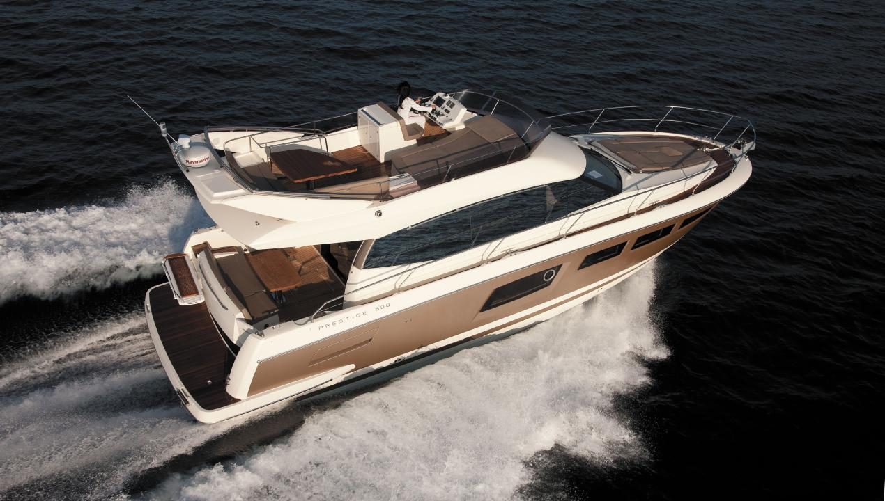 The Prestige 500 has been nominated for a 2011 World Yachts Trophy 1