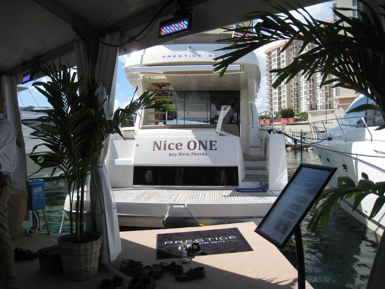 Prestige in Miami boatshow 2